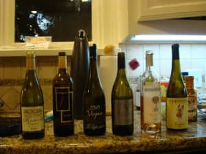 Va wine line up